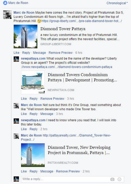 Diamond Tower Pattaya Facebook newpattaya