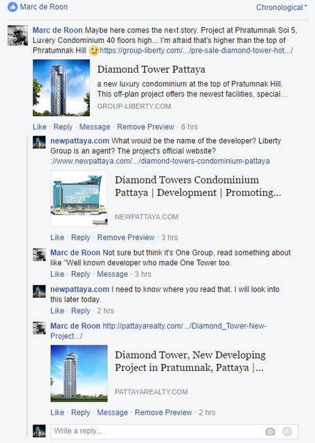 Diamond Tower Pattaya Facebook newpattaya