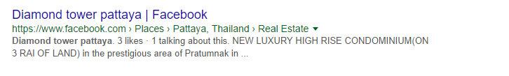 Diamond Tower Pattaya Google