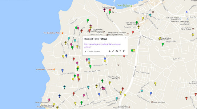 Diamond Tower Pattaya Map