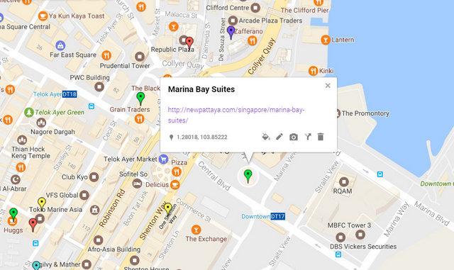 Marina Bay Suites Map