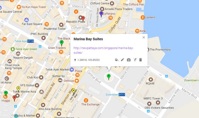 Marina Bay Suites Map