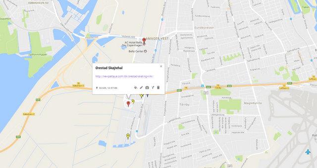 Orestad Skating Rink Map
