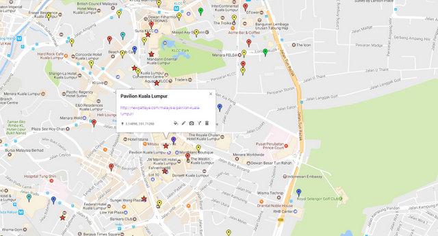 Pavilion Kuala Lumpur Map