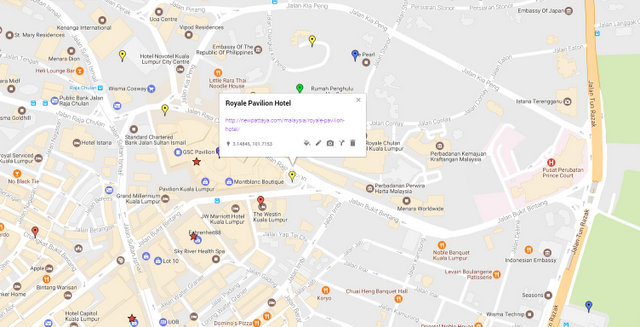 Royale Pavilion Hotel Map