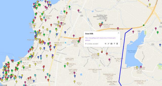 Snow Milk Pattaya Map