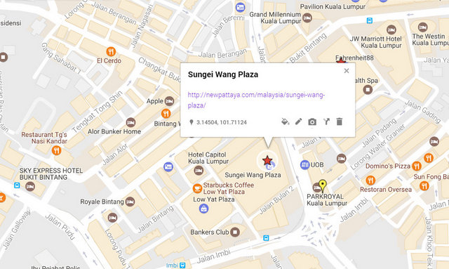 Sungei Wang Plaza Map