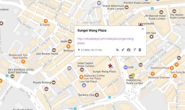 Sungei Wang Plaza Map