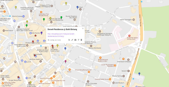 Dorsett Residences Bukit Bintang Map