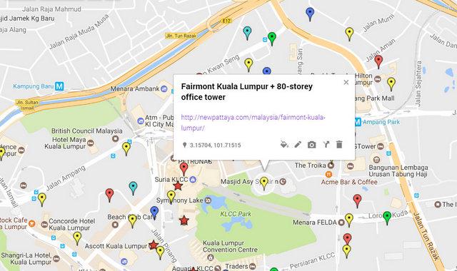 Fairmont Kuala Lumpur Map