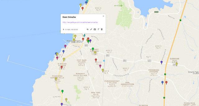 Keen Sriracha Map
