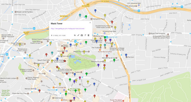Maxis Tower Kuala Lumpur Map