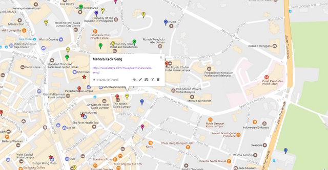 Menara Keck Seng Map