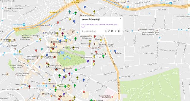 Menara Tabung Haji Kuala Lumpur Map