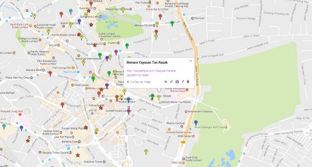 Menara Yayasan Tun Razak Map