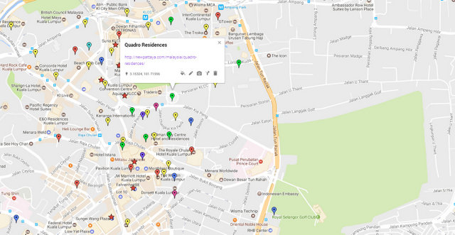Quadro Residences Map