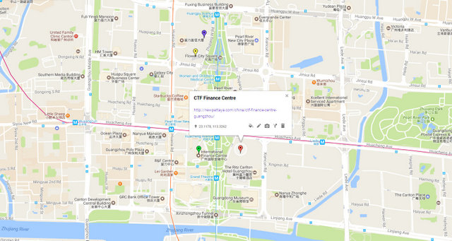CTF Finance Centre Guangzhou Map