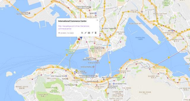International Commerce Centre Map