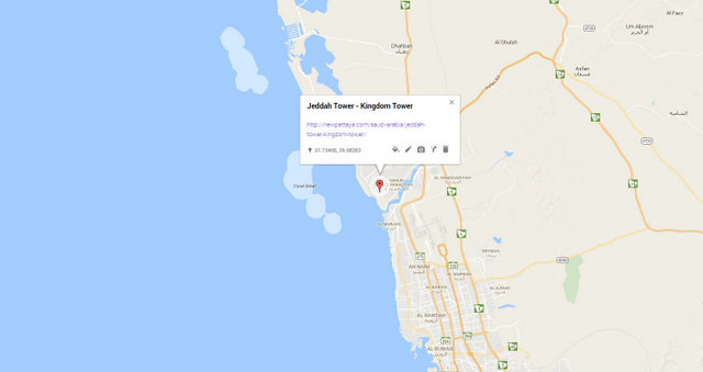Jeddah Tower - KIngdom Tower Map