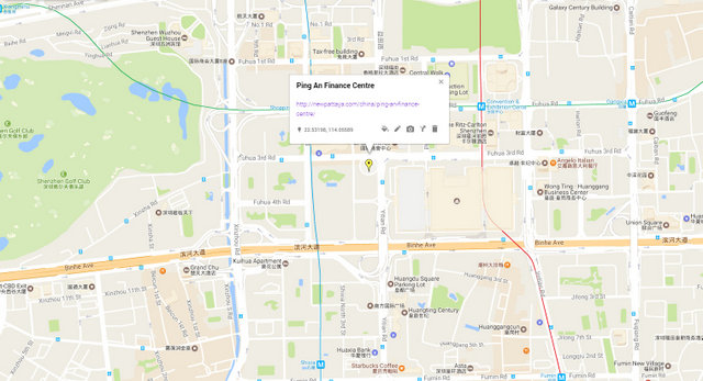 Ping An Finance Centre Map