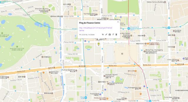 Ping An Finance Centre Map