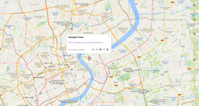 Shanghai Tower Map