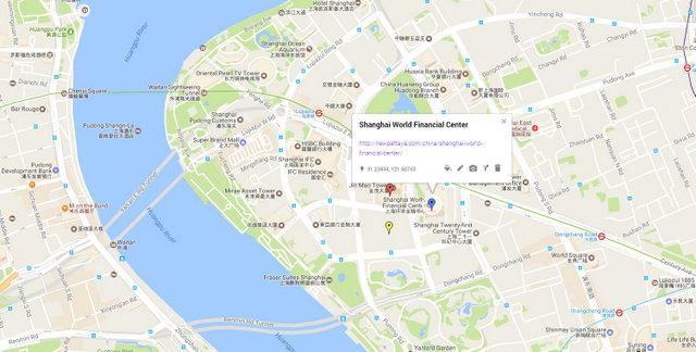 Shanghai World Financial Center Map